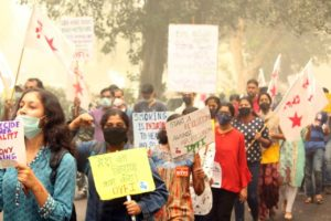 Young people in Delhi demand action against air pollution