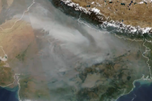 Air pollution above India